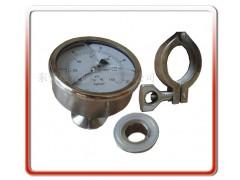 轴向卫生型隔膜压力表、隔膜压力表