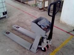 扬州1T液压手推叉车泵,2吨手推叉车泵秤