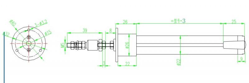 式电阻位移传感器   kpf