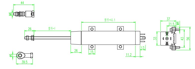 ktc拉杆式电阻直线位移传感器