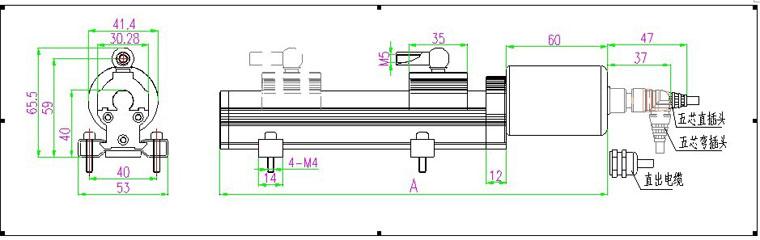 油缸自动行程电路图