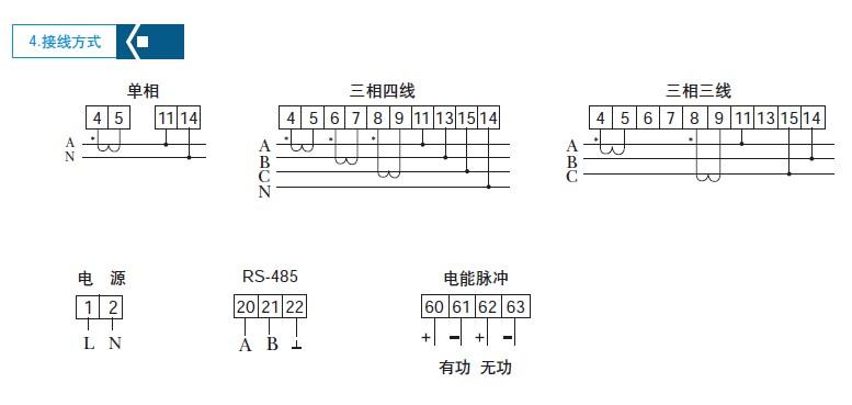 三相多功能电量表 多功能电力仪表