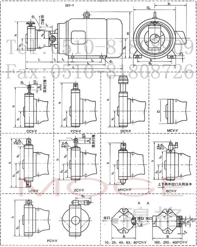 油泵电机组   cy-y系列油泵电动组是cy14-1b系列高压轴向柱塞泵和y