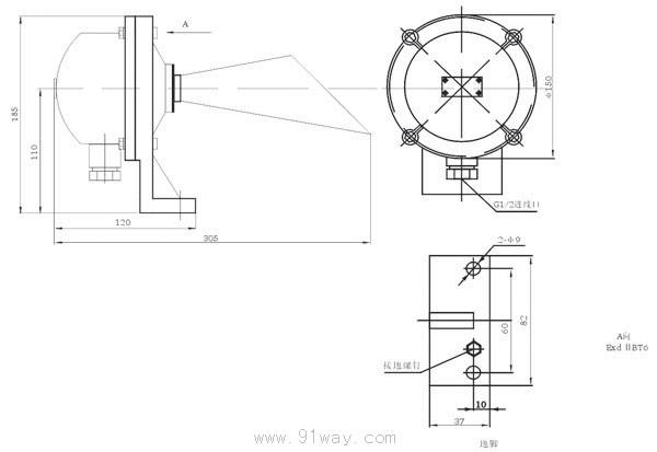 本系列接线盒适用于煤矿井下及其周围介质中有