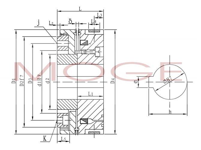 dly5-63a,dly5-100a,牙嵌式电磁离合器