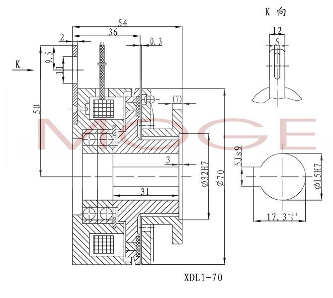 xdz1-70,单片电磁离合器