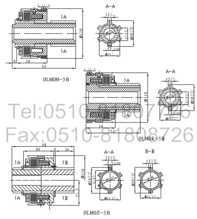 dlm0z-5b,铣床专用离合器_供应产品_无锡穆格流体控制