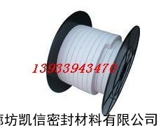 4*4mm白四氟盘根,聚四氟乙烯盘根白色