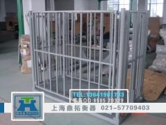 天水杀猪厂5T牲畜电子称丨带围栏畜牧电子平台秤