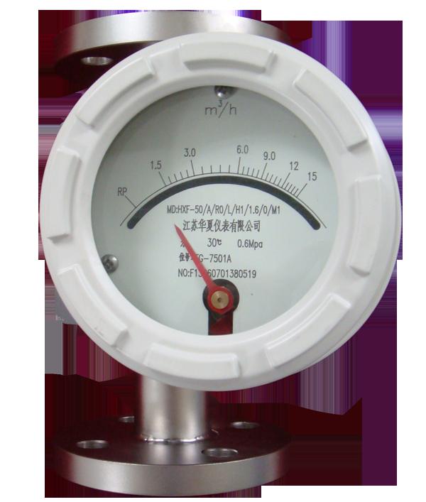 与玻璃转子流量计相比较能耐较高的压力.