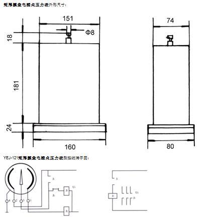 拆装电接点压力表的接线盒或