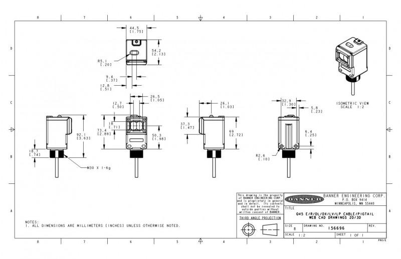 q45bw22dlq邦纳banner光电传感器
