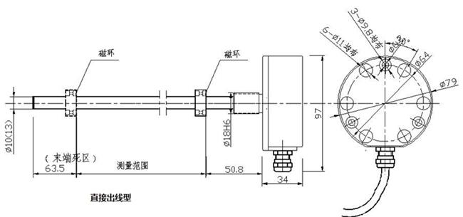油缸行程磁致伸缩位移传感器smw-cts-d