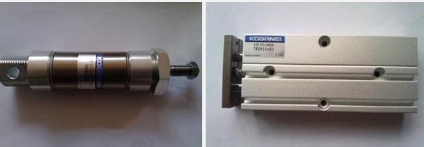 KOGANE圆形气缸的优点是:结构简单,紧凑,体积小,重量轻,密封性 好,不易漏气,加工简单,成本低,无磨损件,维修方便等,适用于行程短的场合.缺点是 行程短,一般不趁过 50mm.平膜片的行程更短,约为其直径的 1/10. (2) 磁性开关气缸 磁性开关气缸是指在气缸的活塞上安装有磁环, 在缸筒上直接安装 磁性开关,磁性开关用来检测气缸行程的位置,控制气缸往复运动.