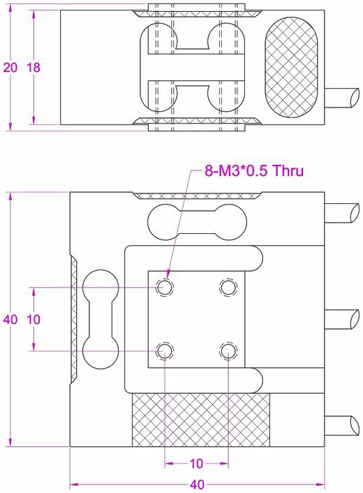 three axis load cell