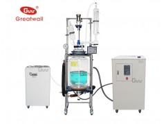 专业生产50L双层玻璃反应釜配套装置