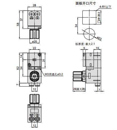 电磁阀 结构图 英文