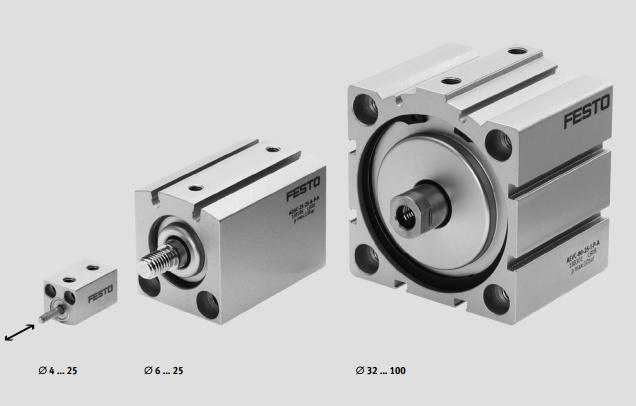 供应 工控仪表 执行器 气动执行机构 festo双作用短行程气缸,festo图片