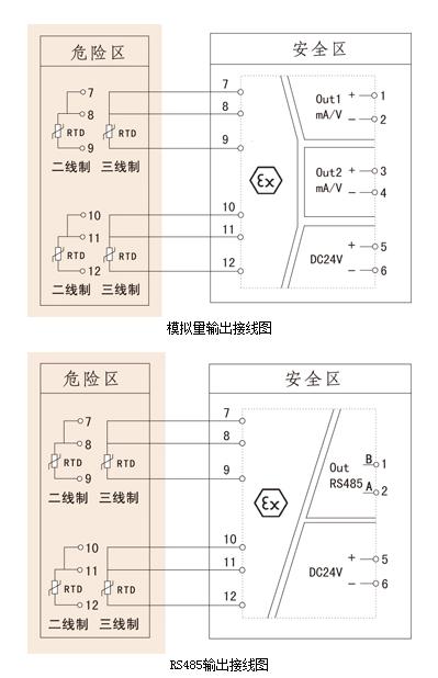 输入检测端隔离栅接线图