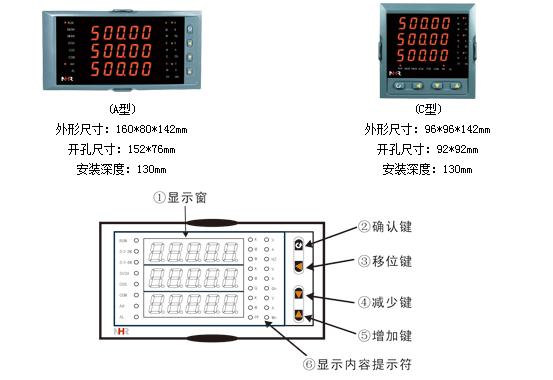仪表接线图 nhr-3300□-□-□/□/