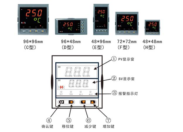 供应虹润经济型三位单回路数字显示控制仪