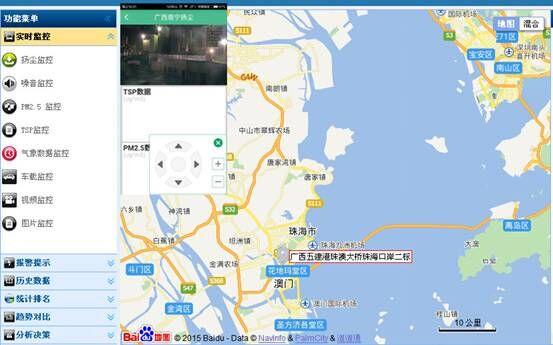 电子地图位置呈现功能