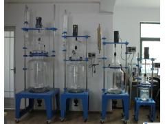 长沙玻璃反应釜100L/50L/30L/20L双层玻璃反应釜