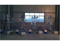 明杰双层玻璃反应釜价格,50L双层玻璃反应釜生产厂家