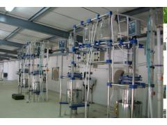 金刚石提纯玻璃反应釜/单层高温提纯反应釜/玻璃可视反应釜