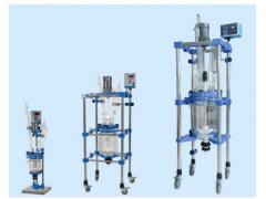 夹套玻璃反应釜厂家/中试玻璃反应釜/结晶/提纯专用反应釜