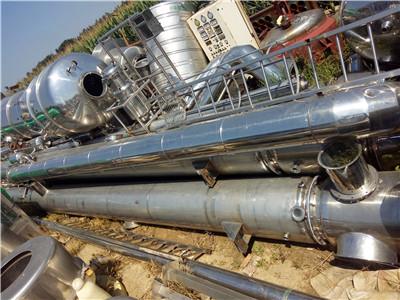 出售二手三吨三效蒸发器,二手三效蒸发器原理,三效蒸发器
