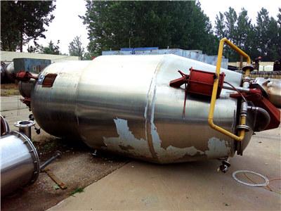 二手浓缩液缓冲罐,二手不锈钢反应釜,二手球形浓缩器,二手3立方超纯水