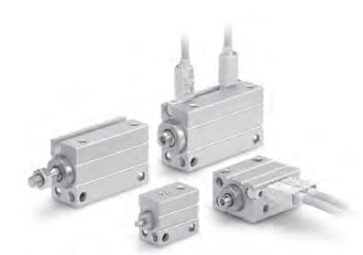 smc小型自由安装型气缸的结构原理以及型号表示方式