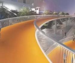 国内首条空中自行车道试营 空中自行车背景与设计原理