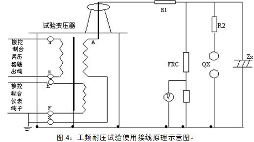 其他行业专用仪器 交直流高压试验变压器  r1,r2- 限流电阻; qx- 放电