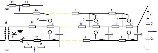 其他行业专用仪器 雷电冲击陡波发生器  1b:充电变压器 d:高压整流硅