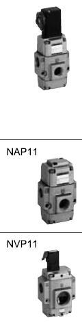 先导电磁阀的装配要领(电磁阀搭载型的场合) 拆卸先导电磁阀时,请按如图片