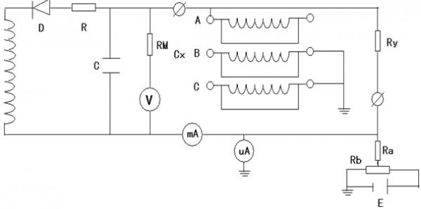 原理接线图(测量水内冷发电机定子a相图)