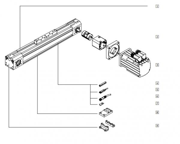 德国FESTO电缸安装@FESTO电缸结构图 德国FESTO电缸:  高精度刚性导轨  适应能力强,多种安装方式及附件可选  驱动单元具有多种安装方式  多轴系统具有多种可选的安装附件  非常适用于马达控制器组合 DGE-ZR,基本型  行程: 1 ... 4500 mm  不带导轨  特性负载值低 DGE-ZR-KF,带循环滚珠轴承导轨  行程: 1 .
