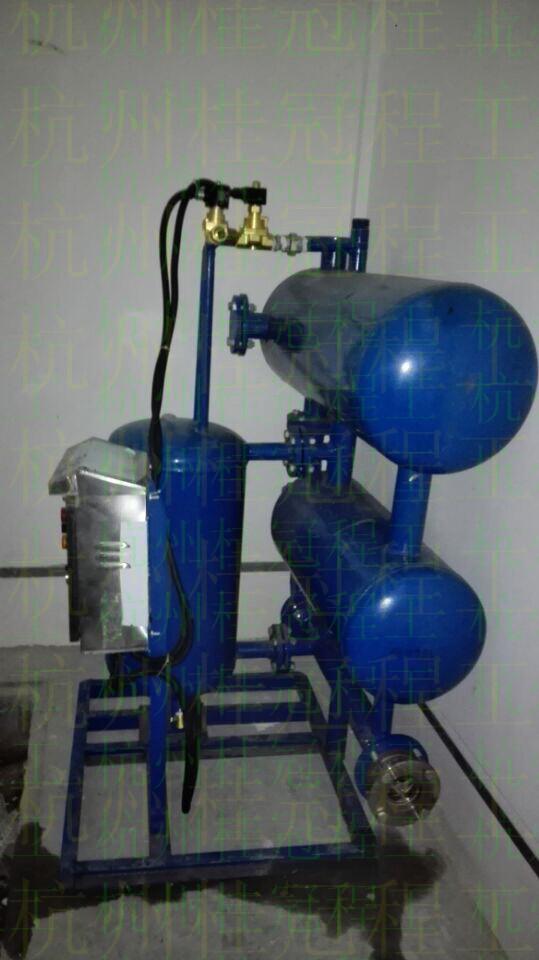 疏水自动加压泵 结构及工作原理:   疏水自动加压器由水室,加压室