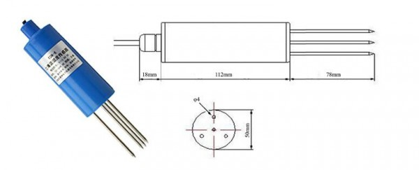现货tdr-5土壤温湿度传感器厂家