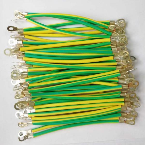 黄绿接地线规格   国标bvr光伏板接地线 光伏接地线 光伏跨接线 太阳
