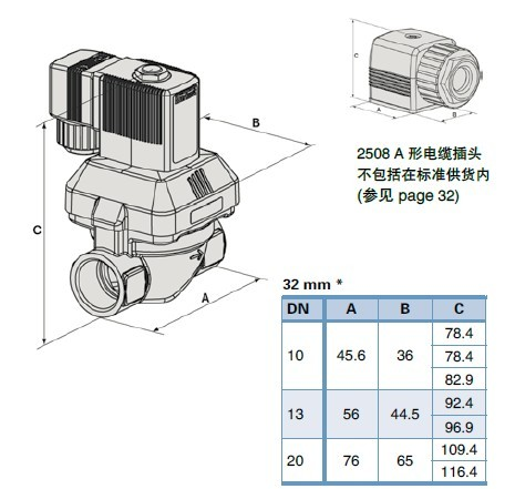 burkert电磁阀型号规格@burkert电磁阀产品结构图图片