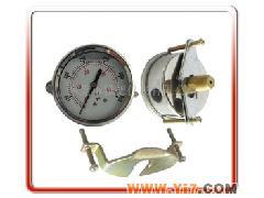 供应63MM轴向带支架充油压力表、耐震压力表